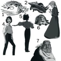 Howls Moving Castle Brushes by Mykahs