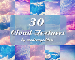 30 Icon-sized Cloud Textures by xdarknessfalls