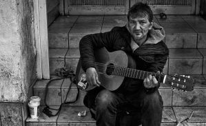 Homeless Busker 2 by mant01