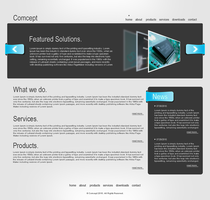 COMCEPT website template by drmaxmad