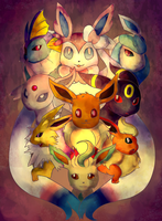Eeveelutions by ThaIssing