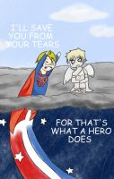 That's what a hero does by girlyanimegal