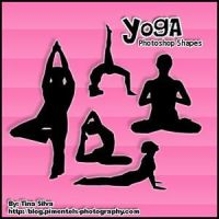 Yoga Custom Shapes Photoshop by aliexepress12