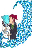 Sheps and Liara-Mass Effect by LadyFleabitten