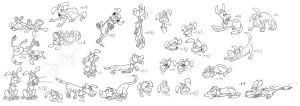 dog poses and expressions by jimmymcwicked