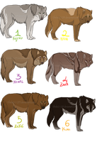 wolves breedables - CLOSED by Sharaiza