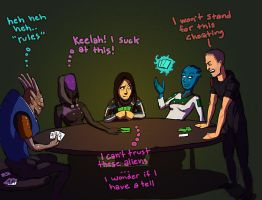mass effect poker night by DavidBrowne