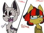 [AT]- Derek and Techna (i tried....) by Duskthefox2468