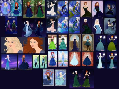 Anna and Elsa Collage by ArielxJim08