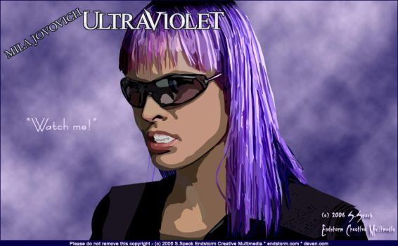 Milla Jovovich as Ultraviolet by NobleDead