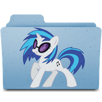 music folder - vinyl scratch by spikeslashrarity
