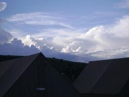 Clouds over Base Camp by Weasel102