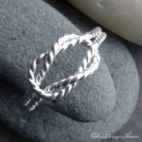 New Rope Patterned Love Knot Ring by che4u