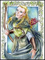 Legolas Gift - coloured by tifachan