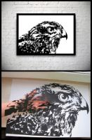 Hawk Handmade Original Papercut by DreamPapercut