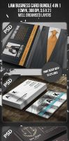 Law Business Card Bundle 4 in 1 by VadimSoloviev