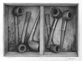 Six Pipes - drawing by dizzykid