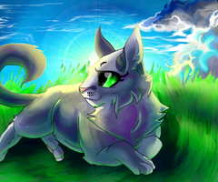 Chillin in the grass:AT by 9tailsfoxyfoxy