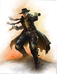steampunk gunslinger by loztvampir3