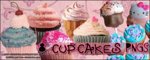 8 Cupcakes PNG by lady-vicious