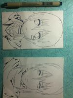 No.6  Mini cards ... lineart vers by RomaVargas