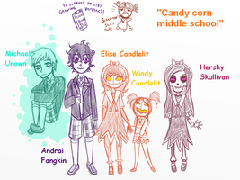 Candycorn Middle School Doodles by Alaskaair