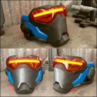 Soldier 76 Replica Mask with EL Lighting by JohnsonArmsProps
