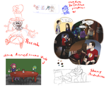 Some stuff (mostly fanart WIPs) by LovesFunnyMovies