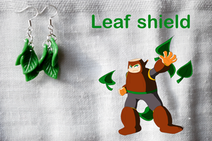 Leaf shield earrings by romanletters