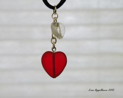 Valentine's Hearts on Suede by Cillana