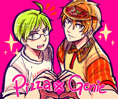Pizza x Genie by ROSEL-D