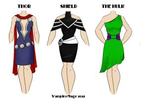 Avengers Fashion #1 by FangsAndNeedles