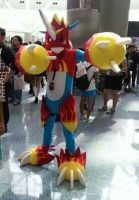 Flamedramon costplay from anime expo 2013 by DragonTeens