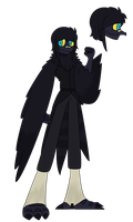 Lonan The Jackdaw-Potoo by Ask-Antworker