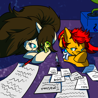 Late Night Plotting by AugustRaes