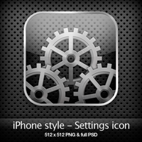 iPhone style - Settings icon by YaroManzarek