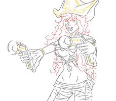 Miss Fortune sketch by EndOfDream