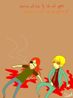 dogs. giovanni and badou. by odd-thinking