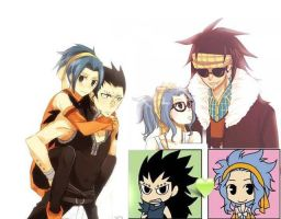 GaLe (Gajeel x Levy) Collage by 19flameprincess