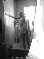 Self Portrait - The Shower 9 by ETsVOXetANIMA