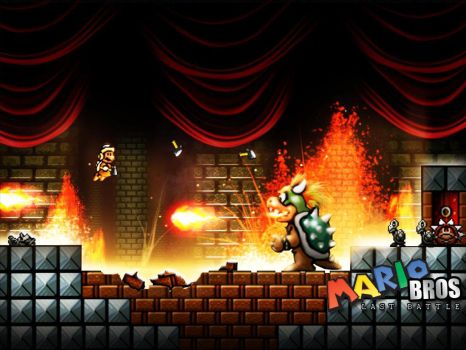 Mario vs Bowser by xXLightsourceXx