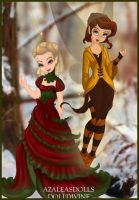 Autumn And Christmas Fairy by Swolfmoon