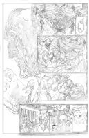 Avengers vignette, pencils 2 by CAGutierrez