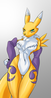 Renamon Comission by freelancemanga