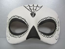Day of the Dead black and white mask by maskedzone