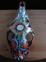Painted Skull, View One by marlainawho