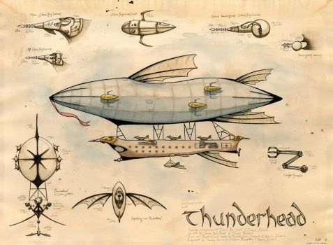 the Airship Thunderhead by feynico