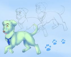 From sketch to finnish mint dog by Felixcani