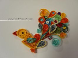 quilling bird by kadifecraft