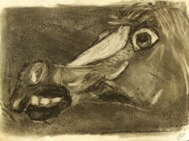 Creepy Horse Mask in Charcoal by CobaltBrony